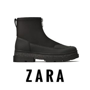 New Zara Girls Zipper Ankle Boot